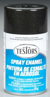 Enamel 1254t Spray Black Metallic Enamel 3 Oz